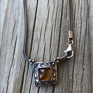 Silpada Vintage Sterling Baltic Amber Cabochon!